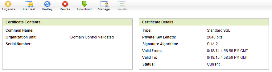 SSL Certificate Issued
